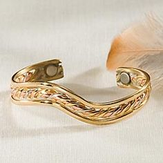 Curved Pure Copper Cuff Bracelet