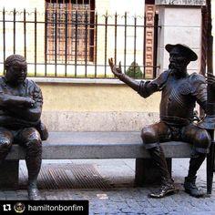 Da série #VisitSpain : #Repost @hamiltonbonfim  Un poco mas de #pueblos en nuestras vidas #alcaladehenares #donquijote Y #sanchopanza --------------------------------------------------- #EspanhaFacil #EspanhaFacilTurismo #Turismo #TurismoEspanha #Espanha #España #Spain #GrupoKapta #ClienteKapta Greek, Batman, Statue, Instagram Posts, Art, Spain, Don Quixote, Tourism, Life