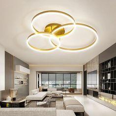 Kiváló minőségű modern mennyezeti csillár, amely garantáltan remek kiegészítője lesz a modern otthonok világának. Rendelheted többféle gyűrűvel is függően attól, hogy mekkora teljesítményre van szükséged. Ceiling Design Living Room, Living Room With Fireplace, Living Room Lighting, Living Room Designs, Office Lighting, Kitchen Ceiling Lights, Led Ceiling Lights, Living Room Modern, Living Room Bedroom
