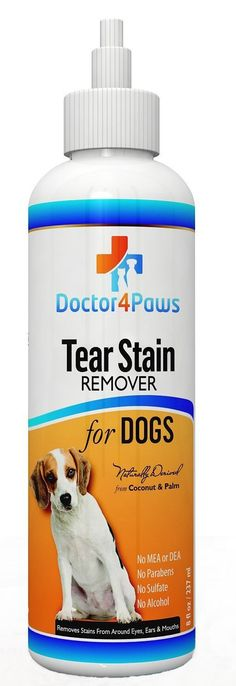 Premium Eye - Tear Stain Remover for Dogs - Naturally Derived From Coconut and Palm - Lifetime 'Happy Dog' Guarantee! * Don't get left behind, see this great  product (This is an amazon affiliate link. I may earn commission from it)