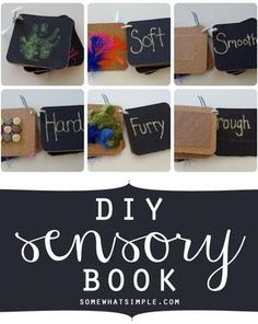 How to make your own children's sensory book - the possibilities are endless