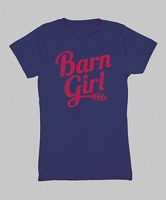 Another great find on #zulily! Navy 'Barn Girl' Fitted Tee - Girls #zulilyfinds