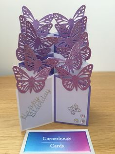 A personal favourite from my Etsy shop https://www.etsy.com/uk/listing/488779721/purple-butterfly-cascade-card-butterfly