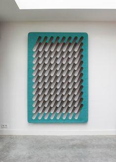 Sigrid Calon, wall hanging, on show at Ventura Lambrate. Woven at @TextielMuseum | TextielLab | TextielLab