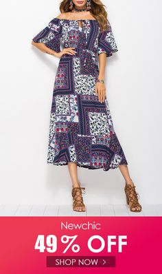 Middle East Bohemian Print Patchwork Off-shoulder Bandage Dresses is high-quality, see other cheap summer dresses on NewChic. Off Shoulder Dresses, Half Sleeve Dresses, Plus Dresses, Bandage Dresses, Loose Dresses, Vintage Dresses Online, Vintage Style Dresses, Boho Festival Fashion, Boho Fashion