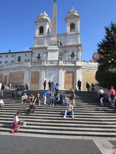 ...a very long way up to the Trinità dei Monti! Spanish Steps Rome, Italy