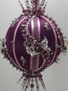 Shambala  Victorian Theme  A Finished Hand Made Beaded Satin