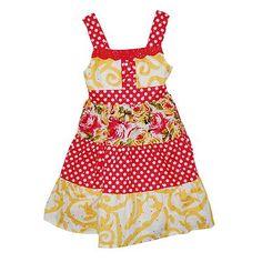 Blueberi Boulevard Polka-Dot Tiered Sundress - Toddler