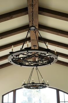 Custom hand forged iron chandeliers made by www.haciendalights.com