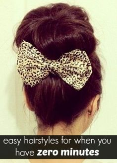easy hairstyles for when you have no time