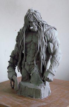 Lobo DC Picture  (sculpture, fantasy, character, warrior)