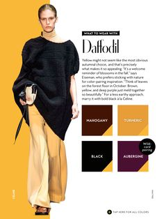 what to wear with InStyle Fall 2016 Daffodil