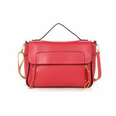 Fashion Girls Candy Color High Quality PU Double Shoulder Bags: USD $25.25