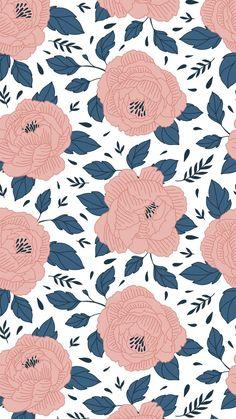 Pink flower wallpaper background