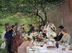 The Wedding Feast in Yport, by Albert Auguste Fourie.