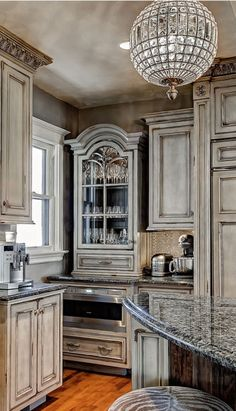 Gorgeous French country details in this kitchen