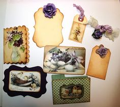 Shabby Beautiful Scrapbooking Easter inserts for mini album Mini Scrapbook Albums, Mini Albums, Stamp Pad, Image List, Container Flowers, Purple Roses, Sticky Notes, Digital Collage, Mini Books