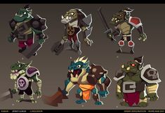 """Early Visual-Development work from for the newly released game Spirit Lords by Kabam. Had a blast working on this, although I recall it was quite creatively exhausting .The focus lay on ideas and exploration rather than polish and """"sell"""". Game Character Design, 2d Character, Character Design Animation, Character Drawing, Character Concept, Monster Concept Art, Monster Characters, Visual Development, Creature Design"""