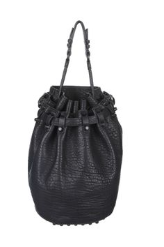 Sac Diego In Pebbled Black with Matte Black - ALEXANDER WANG (205246)