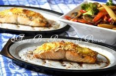 Recipe With Pictures: Baked Salmon Fillet with Dijon and Panko