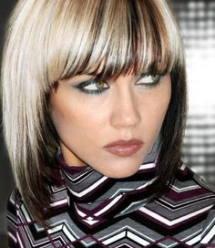 15 Two Tone for Short Hair two tone hair color ideas for short hair - Hair Color Ideas Hair Color Dark, Blonde Color, Hair Colour, Bright Blonde, Color Art, Washable Hair Dye, Funky Hair Colors, Two Toned Hair, Look 2015