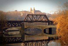 Old train bridge over Lehigh River in Easton, PA - drove over this a few times