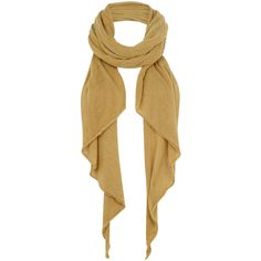 Jigsaw Banda Scarf ($75) ❤ liked on Polyvore featuring accessories, scarves, pañuelos, mustard, oblong scarves, long shawl, woven scarves and long scarves