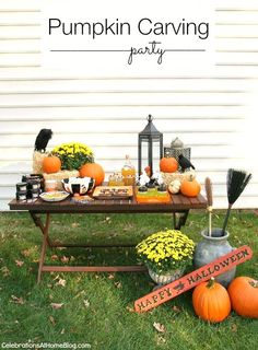 Pumpkin Carving Party — Celebrations at Home