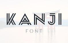 Kanji Free Font #freefonts #fontsfordesigners #bestfreefonts #freebies