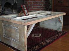 Antique door coffee table on Etsy, $200.00