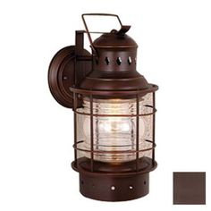 Cascadia Lighting�Nautical 18-in Burnished Bronze Outdoor Wall Light