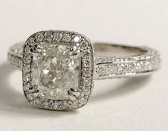 Radiant cut diamond engagement ring #weddings