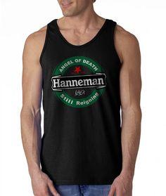 New Gildan T-Shirt Jeff Hanneman Black Angel by CreativeIndonesia Custom Tank Tops, Custom Shirts, Jeff Hanneman, Black Angels, Angel Of Death, Tank Man, Trending Outfits, Mens Tops, T Shirt