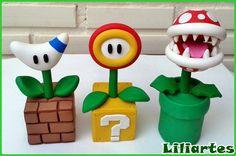 Flores Mario Bros 20cm_proibido cópia   Liliartes   Elo7
