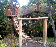 treehouse rope bridge - Google Search