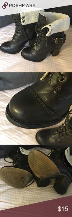 Chinese Laundry Boots Chinese Laundry 7 1/2 M boots. Faux fur lining, some scuffing in right front, tried to show in pictures. Chinese Laundry Shoes Heeled Boots
