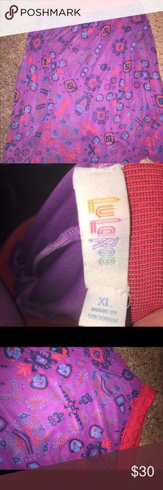 LuLaRoe Lola Skirt Beautiful purple, blue and coral LuLaRoe Lola Skirt! It was my unicorn! Sharing the love! LuLaRoe Skirts