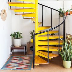 Los Angeles... I have to have spiral stairs in my house one day! And bright Yellow!