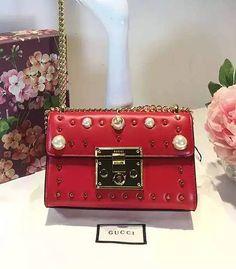e738302616c Gucci 432182 Padlock Pearls Studded Bag Studded Bag