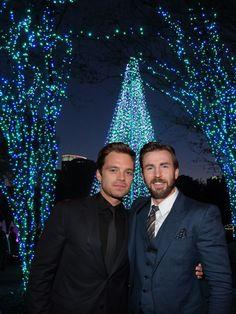 Merry Christmas to all Sebastian ⭐ Stan and Chris Evans