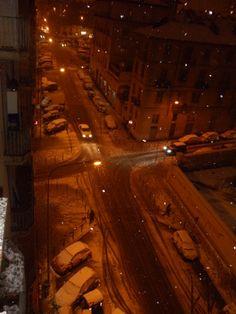Torino di notte sotto la neve <3
