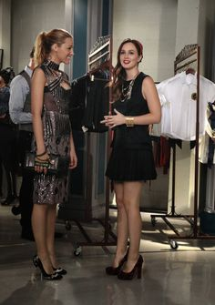 "GOSSIP GIRL-- ""Save the Last Chance""-- image GO607A_0081 Pictured (L-R): Blake Lively as Serena Van Der Woodsen and Leighton Meester as Blair Waldorf - Photo: Giovanni Rufino/The CW -- © 2012 The CW Network. All Rights Reserved."