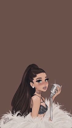 I sing 🎶🎼🎤🎵 You listen 👂🏻 🎧and dance 💃🏻💃🏻 Ariana Grande Anime, Ariana Grande Cute, Ariana Grande Drawings, Ariana Grande Outfits, Ariana Grande Pictures, Cute Emoji Wallpaper, Disney Phone Wallpaper, Girl Wallpaper, Cartoon Wallpaper