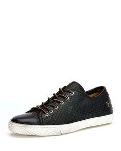 Chambers Cap-Toe Leather Sneaker, Black