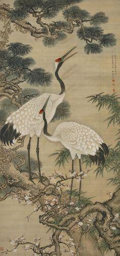 Korean Painting, Chinese Painting, Chinese Art, Japanese Bird, Japanese Prints, Art Chinois, Japan Painting, Japanese Tattoo Art, 1 Tattoo