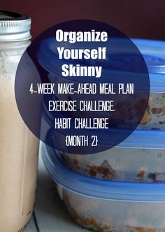 Purchase the Organize Yourself Skinny 4-week Make-ahead Meal Plan, Exercise Challenge, and Habit Challenge Package {Month 2) If you missed the 1st month you can check it out here. We are so excited to bring you the OYS 4-week Make-ahead Meal Plan, Exercise Challenge, and Habit Challenge {Month 2}. The first month was a huge …