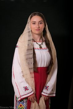 Traditional Romanian costume from South of Dobrogea made by Simona Niculescu Embroidery Map, Learn Embroidery, Modern Embroidery, Embroidery Patterns, Folk Costume, Costumes, Fashion Art, Womens Fashion, Embroidery Techniques