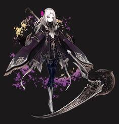 Female Character Design, Character Design Inspiration, Character Concept, Character Art, Manga Girl, Anime Art Girl, Fantasy Characters, Female Characters, Female Grim Reaper