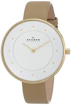 Skagen Women's SKW2137 Gitte Quartz 2 Hand Stainless Steel Light Brown Watch - http://fashion.designerjewelrygalleria.com/watches/skagen-womens-skw2137-gitte-quartz-2-hand-stainless-steel-light-brown-watch/