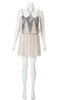 Parker Sequin Halter Dress